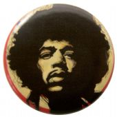 Jimi Hendrix - 'Jimi Pose' Button Badge